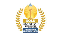 2021 Gold Stevie Award Customer Service Team of the Year