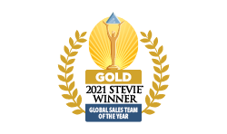 2021 Gold Stevie Award Best Sales Team of the Year