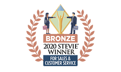 Bronze Award for Sales and Customer Service