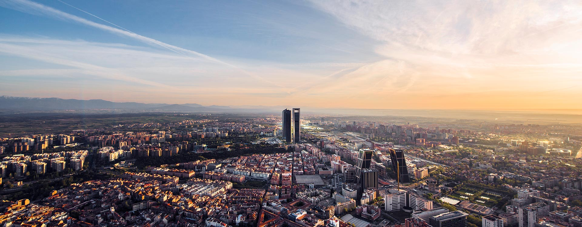 Madrid Spain city aerial