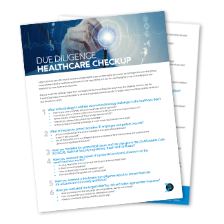 Due diligence healthcare checkup stack of papers
