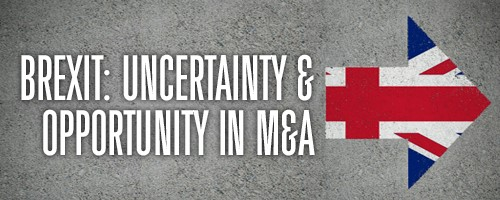 Brexit Unceartainty and Opportunity in M and A