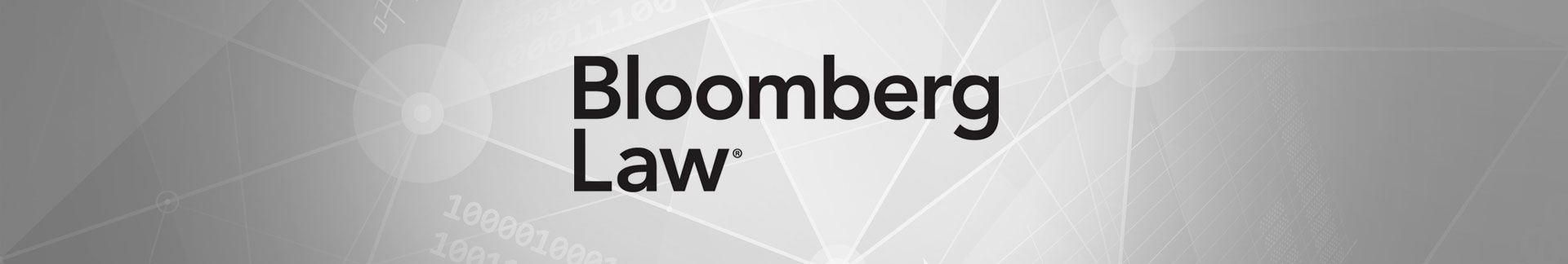 Bloomberg Law news banner